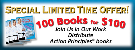 100 Books for $100 - SPECIAL LIMITED TIME OFFER - Distribute Action Principles® books
