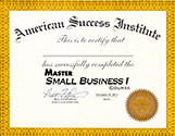 Master Small Business Course Certficate