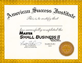 Master Small Business Course 2 Certficate