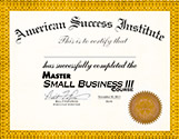 Master Small Business Course 3 Certficate